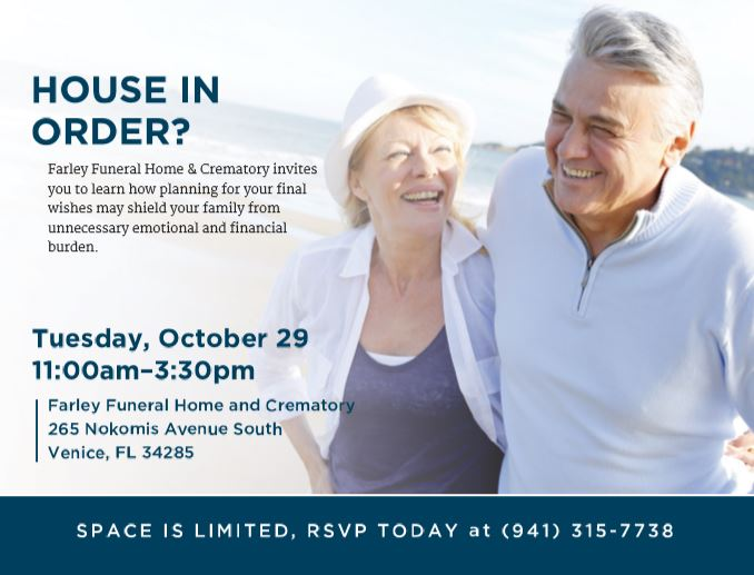House in Order - Preplanning Funeral Arrangements and Estate Planning Seminar