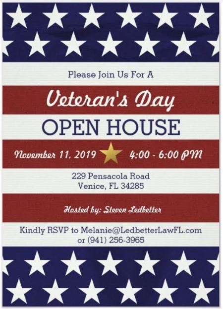 Ledbetter Law Veteran's Day Event